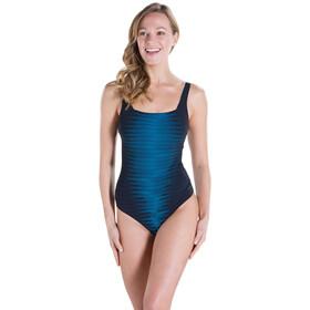 speedo W's AuraGleam 1 Piece Swimsuit Black/Oxid Grey/Winsdor Blue